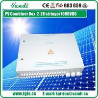 PV DC 1000V segura e confiáveis 16 cordas do sistema PV caixa combinador de matriz -