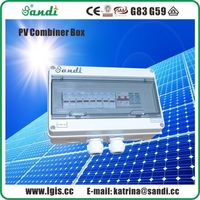 4 cordas matriz PV combinador caixa ABS plástico Solar DC caixa de junção -