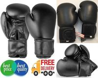 Luvas de boxe de couro do couro real treinar boxe sem marca simples 14oz luvas -