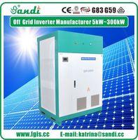 200KW fora inversor de energia solar da grade 3 fase inversor de onda senoidal pura -