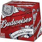 Garrafas de cerveja Budweiser 12 x 355ml - Ak foods distribution ltd