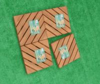 Esteiras de madeira sólidas personalizadas -