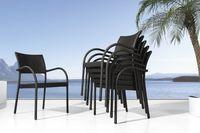 Cadeira ao ar livre barato de jantar rattan vime -