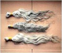 Cabelos Brancos Não Transformados - Qualidade Limitada Vietnamita -