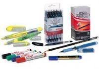 Material de escritório (canetas, lápis, marcadores, etc) -
