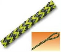 Corda de Polietileno Trançada Preta/Amarela -