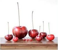 Frutas em cerâmica - Cerejas Ginja III -