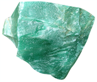 Quartzo verde em bruto -