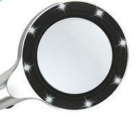 TH8010 Corpo de Metal Lente de Vidro Handheld Lupa com 8 Luzes LED -
