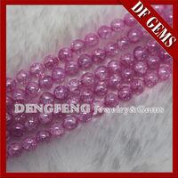Grânulos venda Hot nova forma de bola de alta qualidade cor-de-rosa de gelo para o bracelete cz -