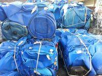 Material reciclado e sucata de PEAD tambor azul -