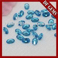 Qualidade Oval High Cut Aquamarine Gemstone -